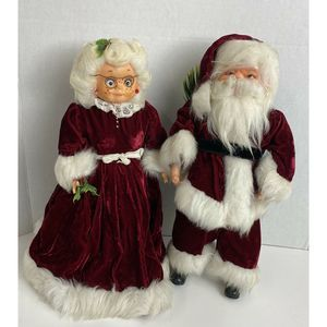 Vintage Santa And Mrs Claus Christmas Decoration